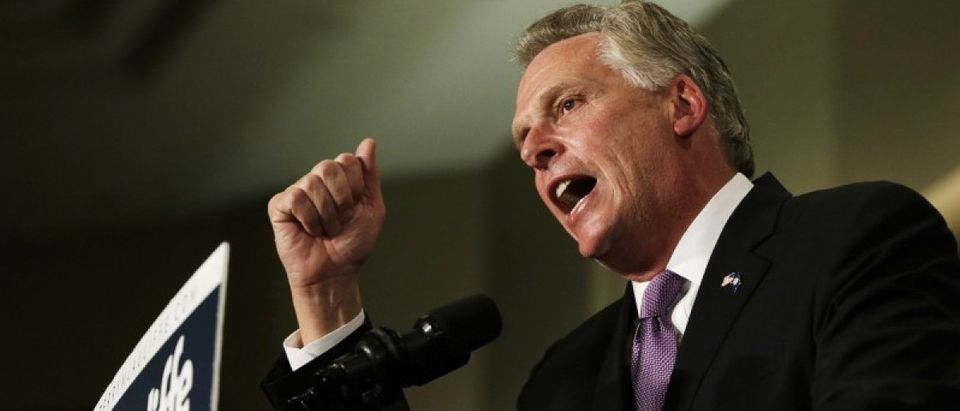Virginia Democratic governor elect McAuliffe speaks to supporters at victory rally in Virginia