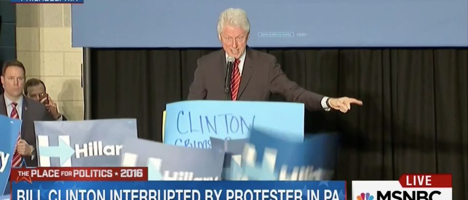 Bill Clinton, Screen Shot MSNBC, 4-7-2016