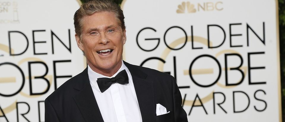David Hasselhoff arrives at the 73rd Golden Globe Awards in Beverly Hills