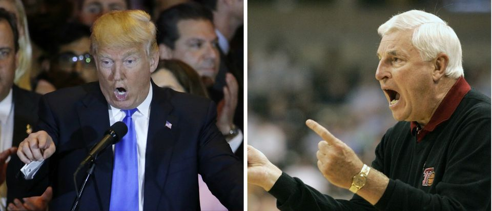 Donald Trump, Bobby Knight, Images via Reuters, RTX2BT5F4, RTR1OPM
