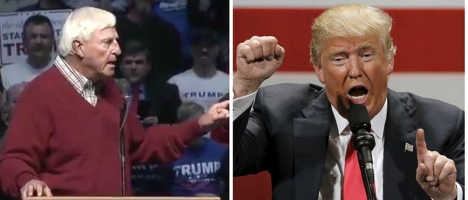 Donald Trump (Reuters), Bobby Knight (Screen Shot), 4-28-2016