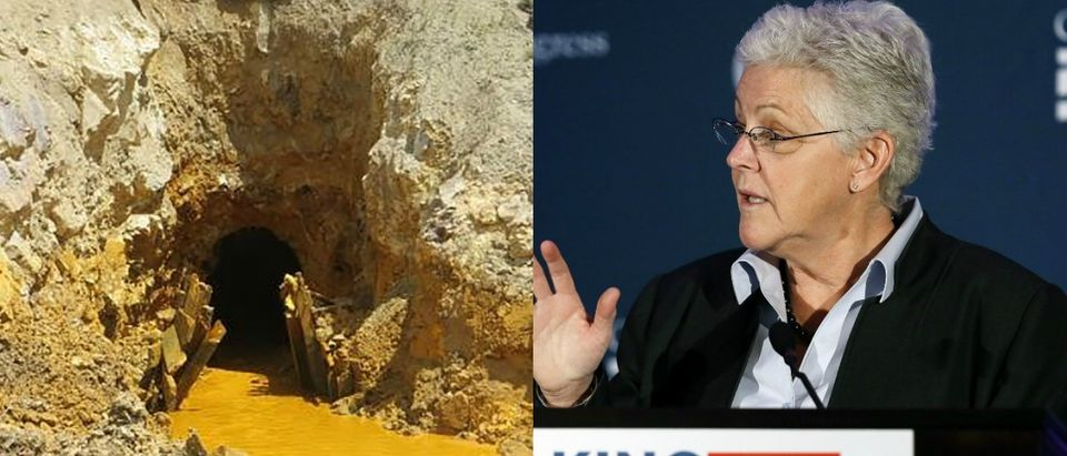 EPA Administrator Gina McCarthy and Gold King Mine.