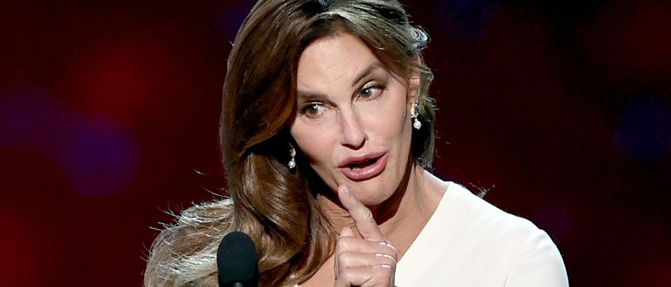 Caitlyn Jenner accepts the Arthur Ashe Courage Award onstage during The 2015 ESPYS at Microsoft Theater on July 15, 2015 in Los Angeles. (Photo by Kevin Winter/Getty Images)