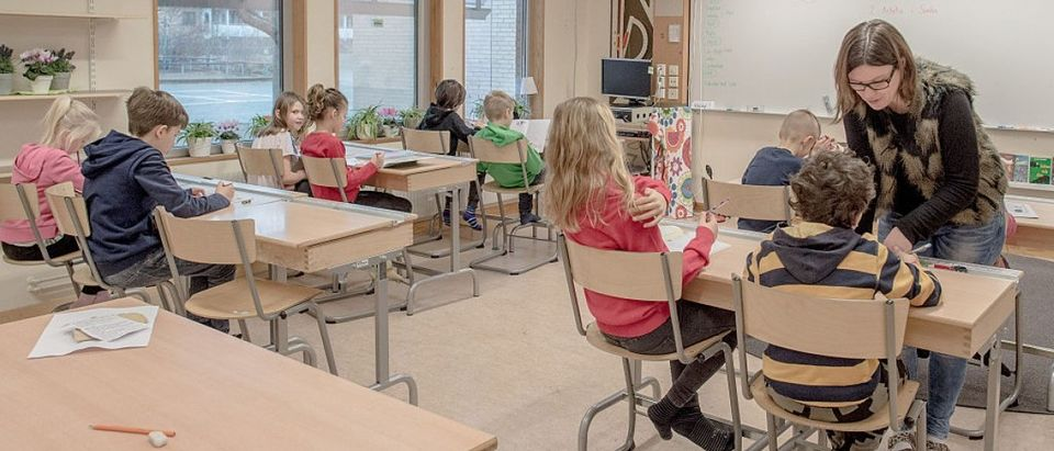 A classroom in Sweden [Getty Images/David Ramos]