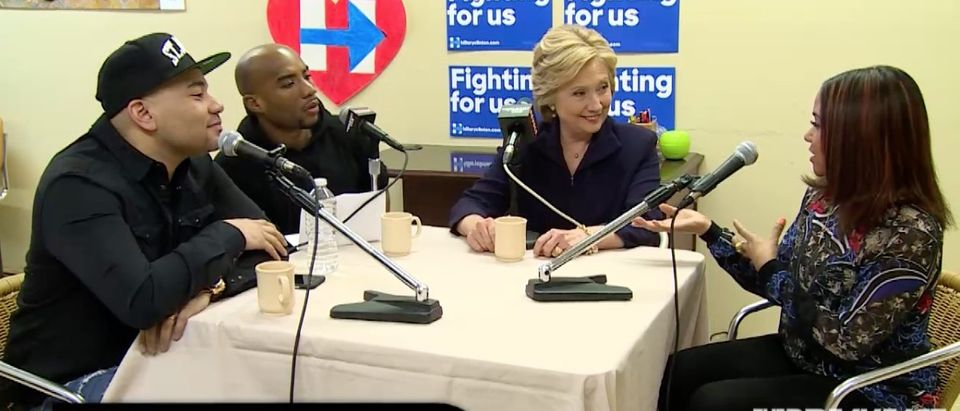 Hillary Clinton, Screen Shot Power 105.1 4-18-2016