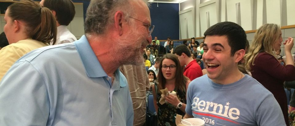 Ben and Jerry Serve Ice Cream At George Washington University (Connor D. Wolf/ DCNF)