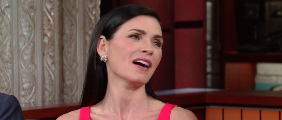 Julianna Margulies, Screen Shot CBS, 4-29-2016, Image 1