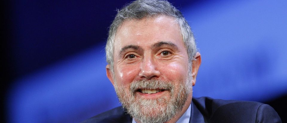 Nobel Prize winning economist Paul Krugman smiles during the World Business Forum in New York October 7, 2009. REUTERS/Chip East