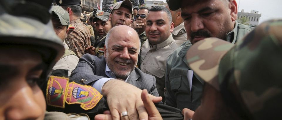 Iraq's Prime Minister al-Abadi tours the city of Tikrit after Iraq security forces regained control from Islamist State militants