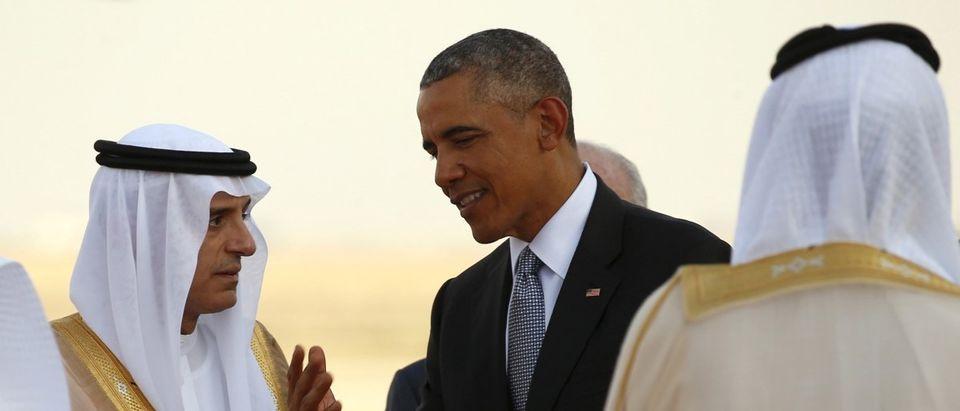 Obama departs after attending the GCC summit in Riyadh, Saudi Arabia