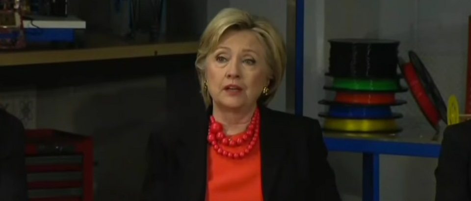 HIllary Clinton speaks at a manufacturing round-table in Syracuse, N.Y. April 1, 2016. (Youtube screen grab)