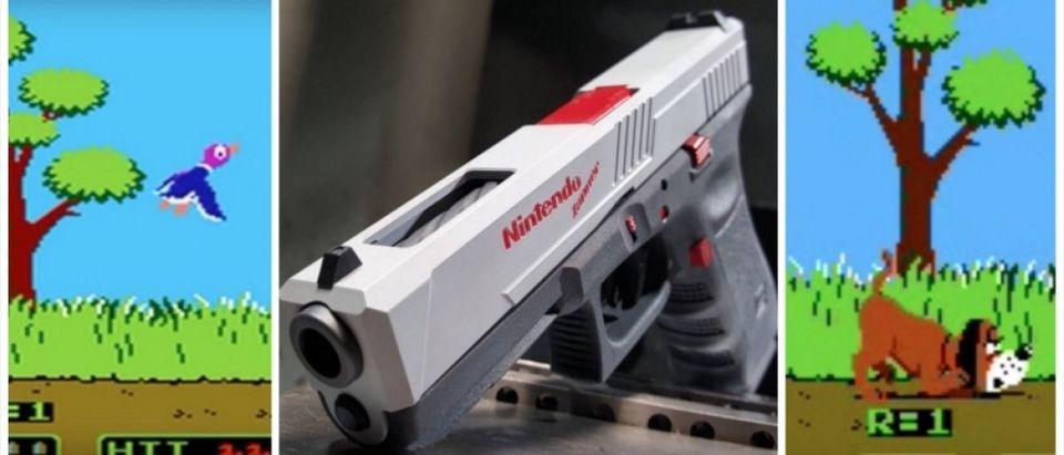 Nintendo Gun (Credit: Screenshot/Youtube/Instagram)