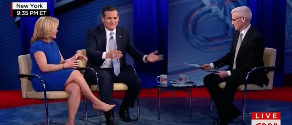 Ted and Heidi Cruz discuss soup and marriage on CNN (YouTube Screenshot)
