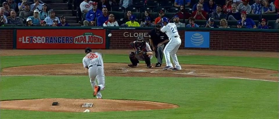 This Might Not Be The Worst Pitch In MLB History, But It's Damn Sure Close (screenshot: MLB)