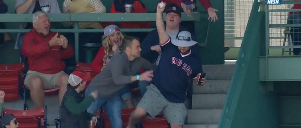 Red Sox fan (Credit: Screenshot/MLB Video)