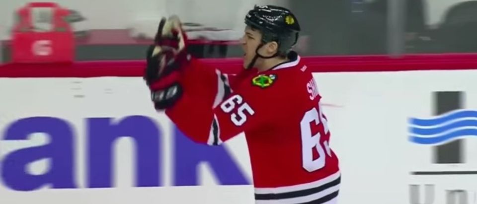 Blackhawks Player Flips Off Ref, Calls Him A 'Fu****g Fa***t' From The Box (YouTube)