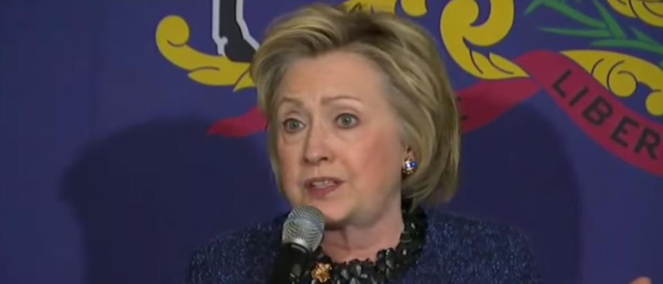 Hillary Clinton speaks at a forum in Philadelphia, Penn. April 20, 2016. (Youtube screen grab)