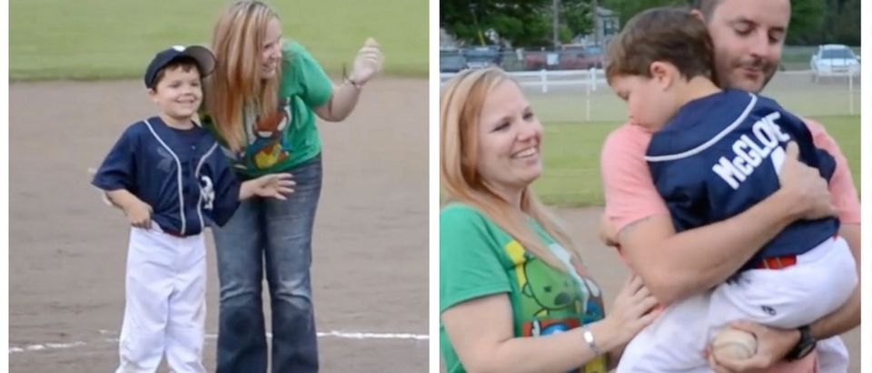 Returning Army Dad Surprising His Son At A T-Ball Game Is A Whole Lot Of Awesome (YouTube)