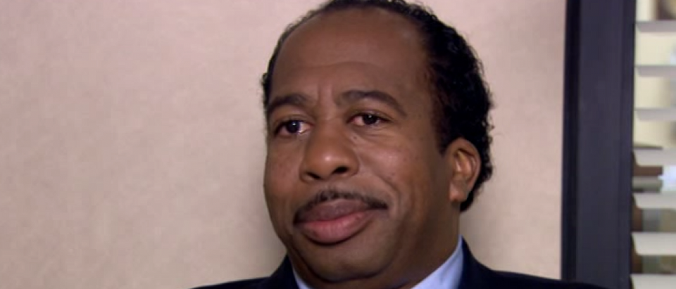 "Stanley Hudson likes Pretzel Day (YouTube Screenshot from NBCUniversal's ""The Office"")"
