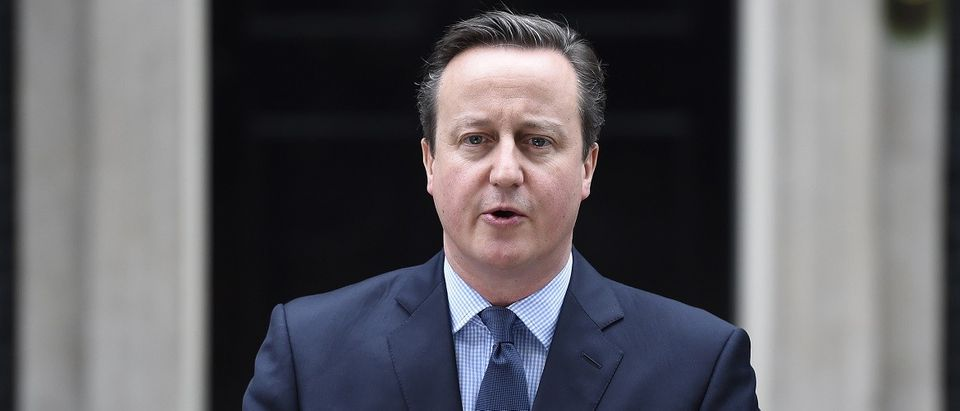 Britain's Prime Minister David Cameron speaks outside 10 Downing Street in London, Britain