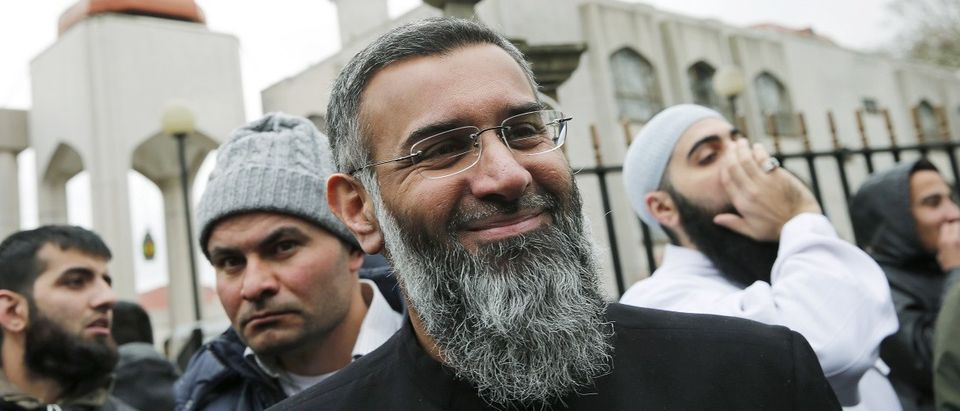 Activist Anjem Choudary leaves London Central Mosque after speaking at a rally calling for British Muslims not to vote as part of the Stay Muslim Don't Vote campaign in London