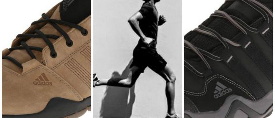 Adidas outdoor shoes are on sale today (Photos via Adidas/Amazon)