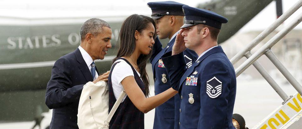 Barack Obama and Malia Obama Reuters/Kevin Lamarque