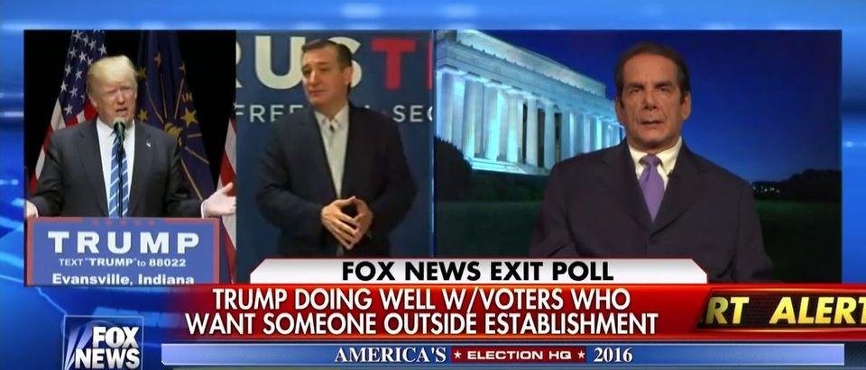 Charles Krauthammer, Screen Shot Fox News, 5-3-2016