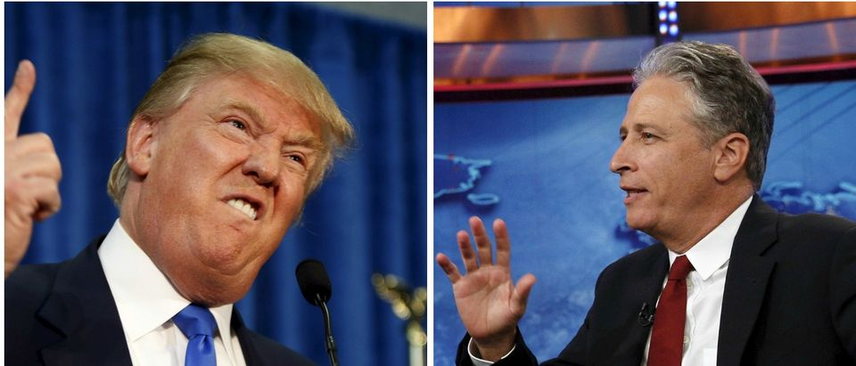 Donald Trump, Jon Stewart, Images via Reuters, RTX1GZCO, TTX1L9NS