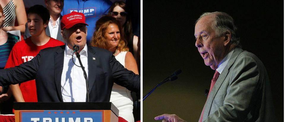Donald Trump, T. Boone Pickens, Images via Reuters, RTXSJLZ, RTX2DAYL