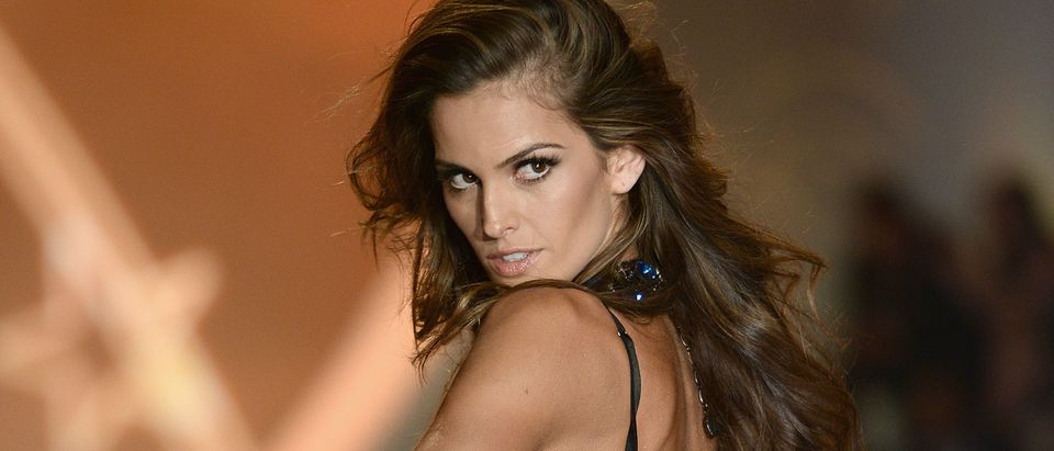 Model Izabel Goulart walks the runway at the 2013 Victoria's Secret Fashion Show at Lexington Avenue Armory on November 13, 2013 in New York City