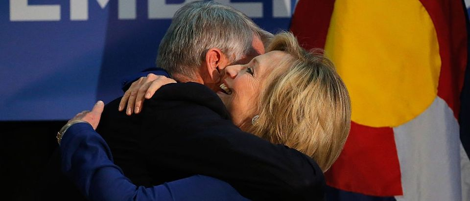 Hillary Clinton Attends Campaign Rally For Mark Udall In Colorado