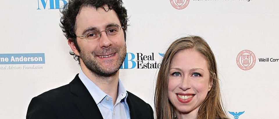 Marc Mezvinsky and Chelsea Clinton attend The Headstrong Project's 3rd Annual Words of War Event at One World Trade Center on Oct. 19, 2015 in New York City