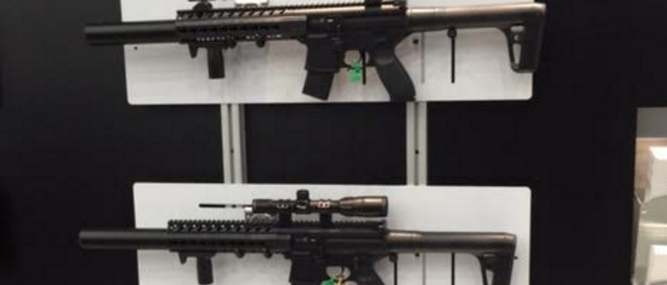 2016 NRA Convention: Guns on display. (Photo: Kerry Picket/The Daily Caller)