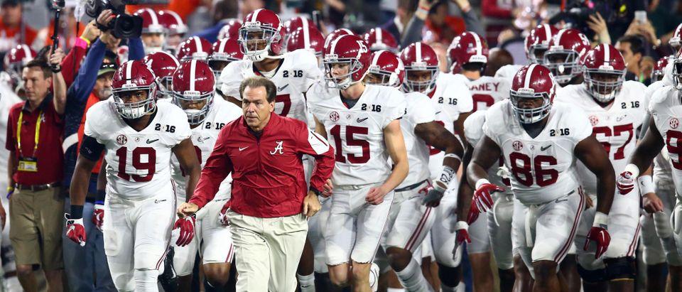 Coach Nick Saban and the Alabama Crimson Tide (Reuters Pictures)
