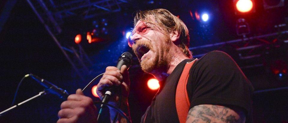 Singer of Eagles of Death Metal, Jesse Hughes, is pictured at the concert at Debaser Medis in Stockholm