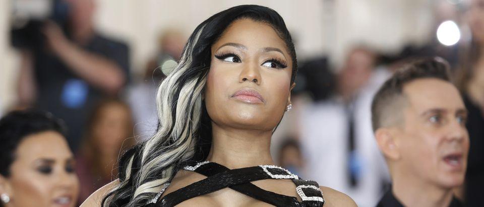 Rapper Nicki Minaj arrives at the Met Gala in New York