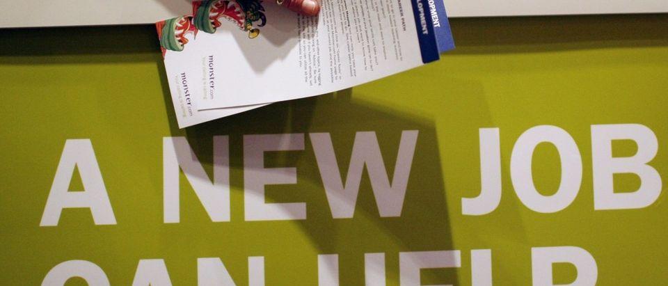 A job fair sponsored by employment website Monster.com (REUTERS/Mike Segar)
