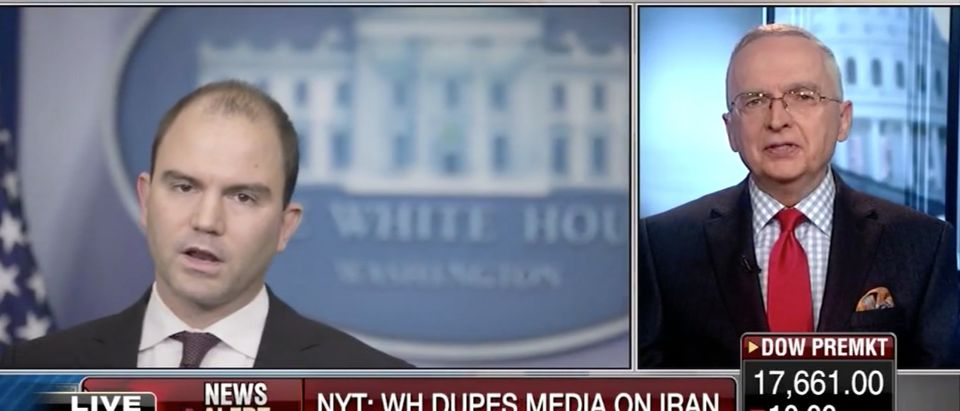Ralph Peters, Ben Rhodes, Screen Shot Fox Business Network, 5-9-2016