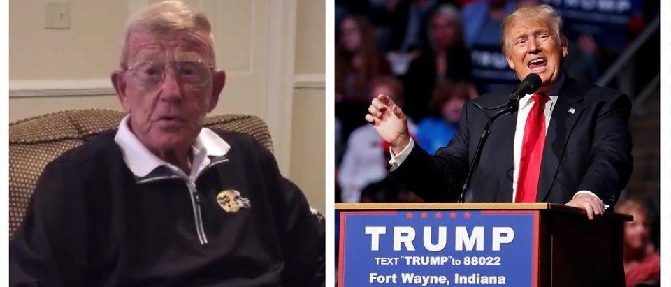 Lou Holtz Endorses Donald Trump (Twitter/Reuters Pictures)