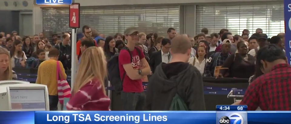 TSA Screening Lines