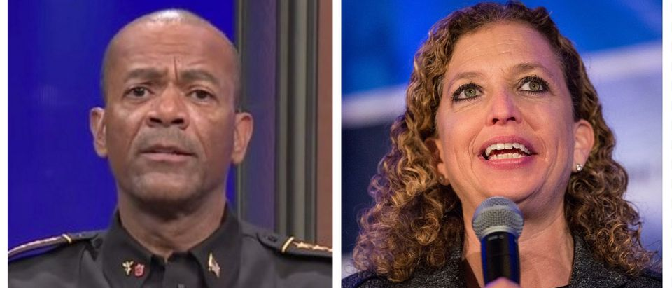 David Clarke compares Debbie Wasserman Schultz to Medusa (Fox News YouTube/Getty Images)