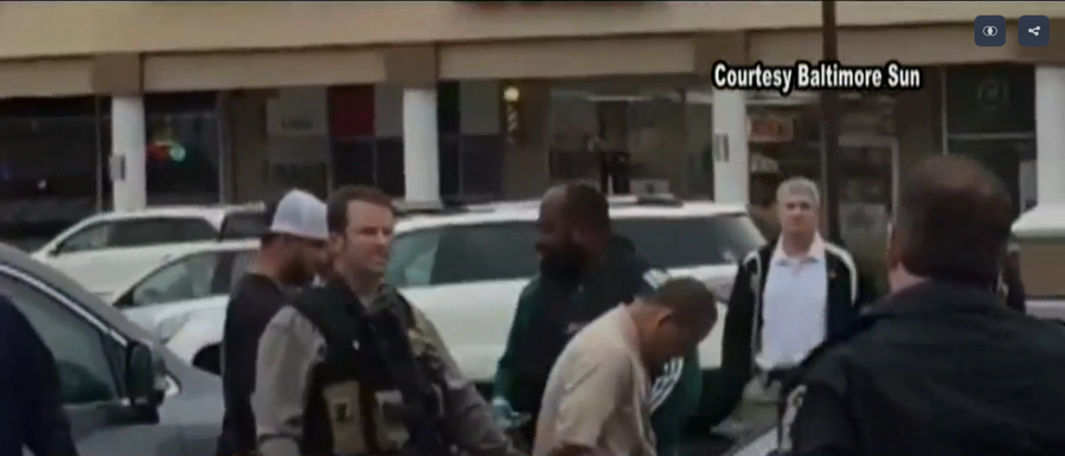 Maryland shooting suspect is arrested. (WUSA9/Screenshot)