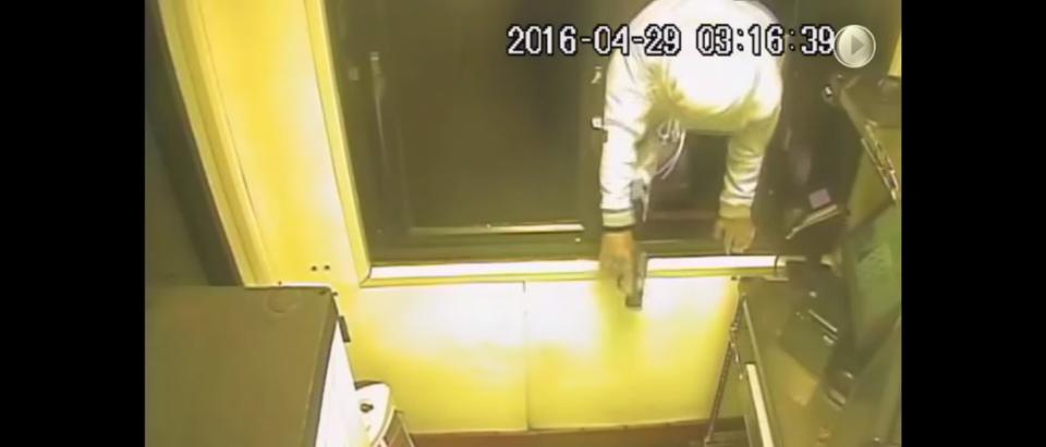 Armed men rob McDonalds.