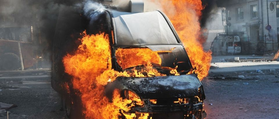Burning Van (Shutterstock)