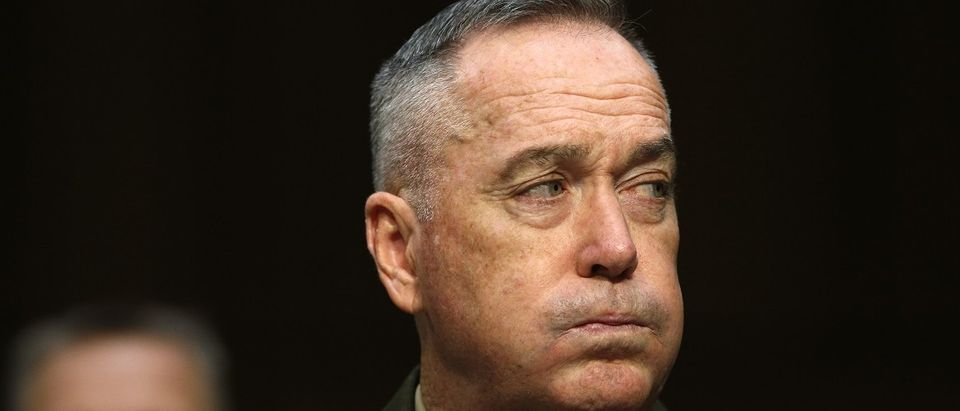 U.S. Joint Chiefs Chairman Dunford testifies on operations against the Islamic State, on Capitol Hill in Washington