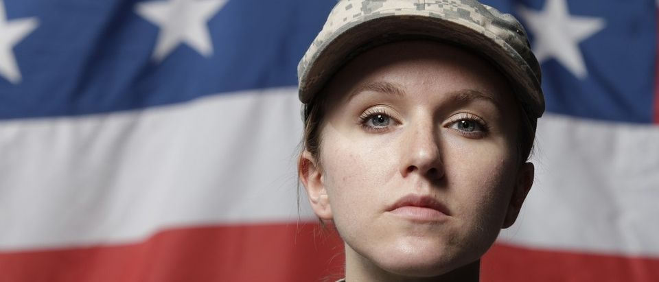 Female soldier (Shutterstock)