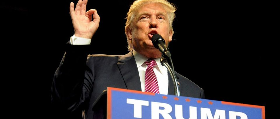 Republican U.S. presidential candidate Donald Trump speaks to supporters in Charleston, West Virginia