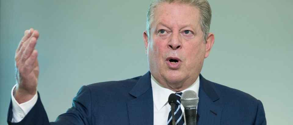 LE BOURGET near PARIS, FRANCE - DECEMBER 7, 2015 : American politician and environmentalist Al Gore at the Paris COP21, United nations conference on climate change. Credit: Frederic Legrand - COMEO / Shutterstock.com