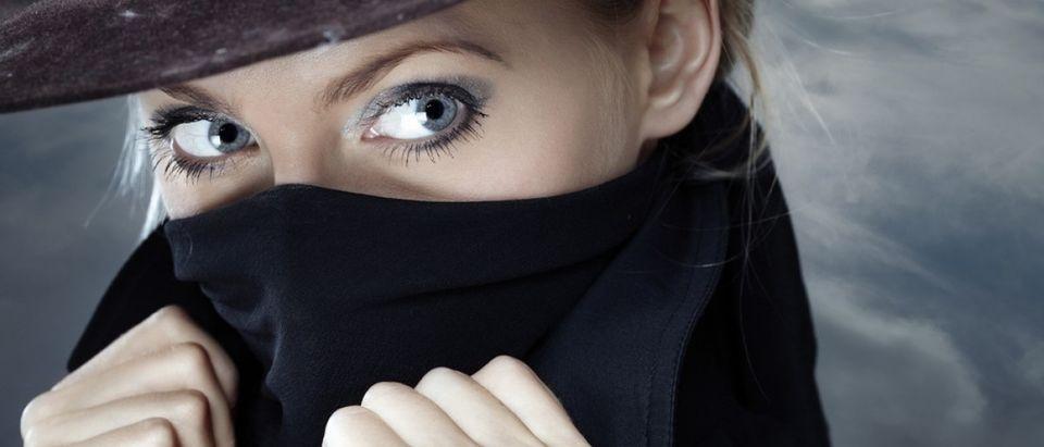 Female Spy With Scarf